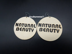Natural Beauty Large Round Wooden Earrings
