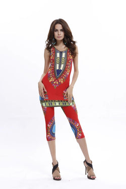 Dashiki Set Red