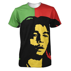 Bob Marley Red & Green Men's T-Shirt