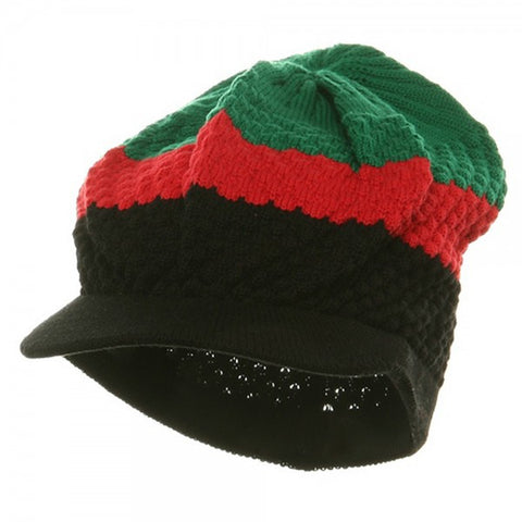 Rasta Hat Black/ Red, Green #9