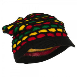 Rasta Hat Multicolor Black Brim/ Red, Green, Gold #5