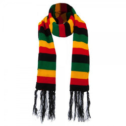 Rasta Black, Red, Gold, Green stripe Scarf