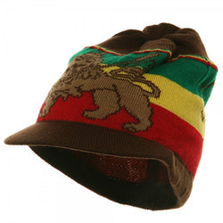 Rasta Hat Lion of Judah Brown #4