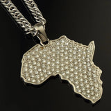 Africa Map Pendant & Chain