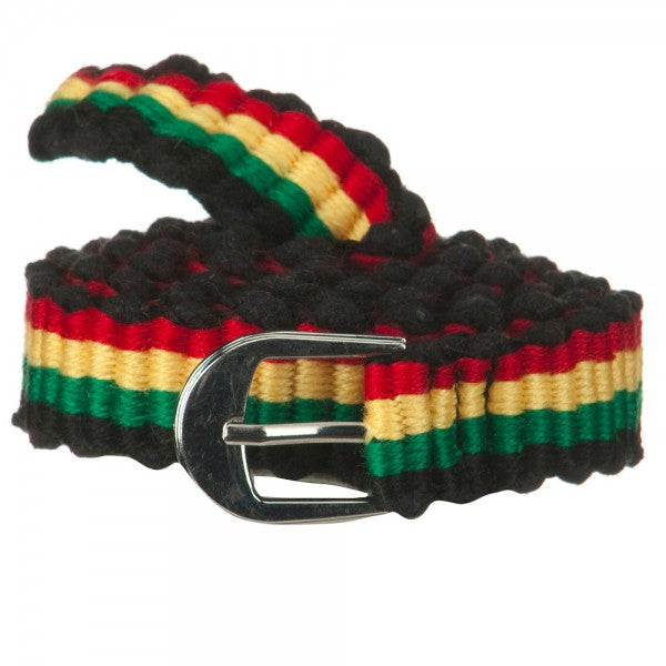 Rasta Red, Gold, Green Belt Black Trim