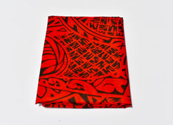 Headwrap Red & Black