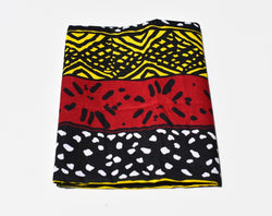 Headwrap African Print Yellow, Maroon, Black, White