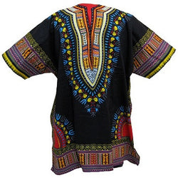 Dashiki Black /Red, Purple, Blue, Yellow