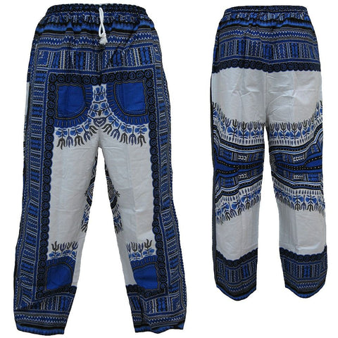 Dashiki Pants Blue/White