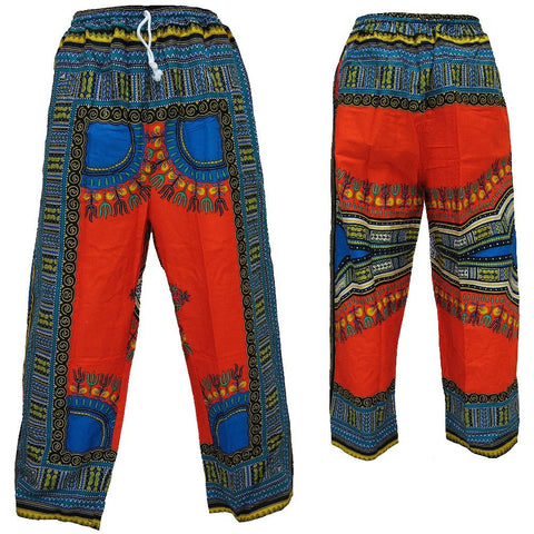 Dashiki Pants Red/Blue