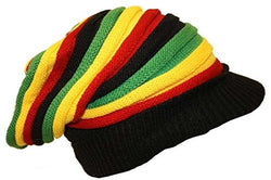 Rasta Hat Red, Gold, Green, Black stripe #3