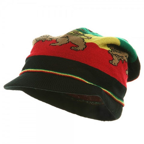 Rasta Hat Lion of Judah Black #19