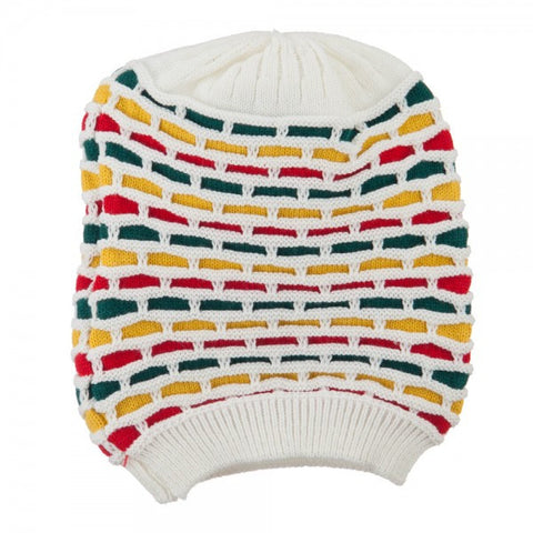 Rasta Tam White/ Red, Gold, Green #22