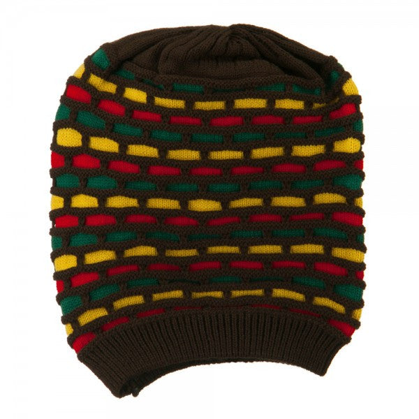 Rasta Tam Brown/ Red, Gold, Green #29