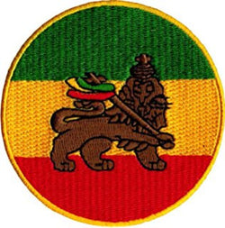 Rasta Lion of Judah Round Patch