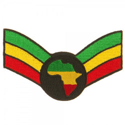 African Map Red, Gold, Green Wing Patch