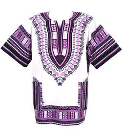 Dashiki Purple & White