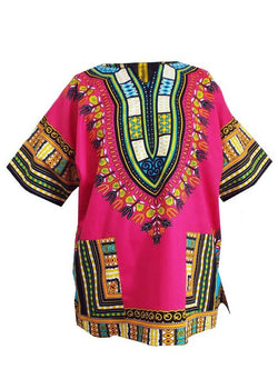 Dashiki Pink, Yellow, Blue