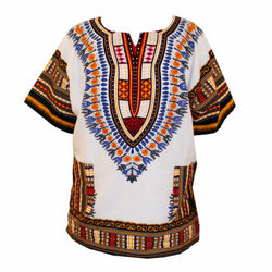 Dashiki White/ Yellow, Black