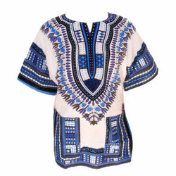 Dashiki White & Blue