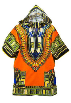 Dashiki Hoodie Orange
