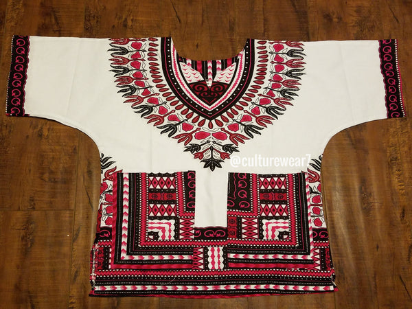 Kids Dashiki White