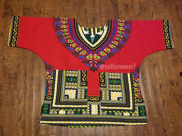 Kids Dashiki Red