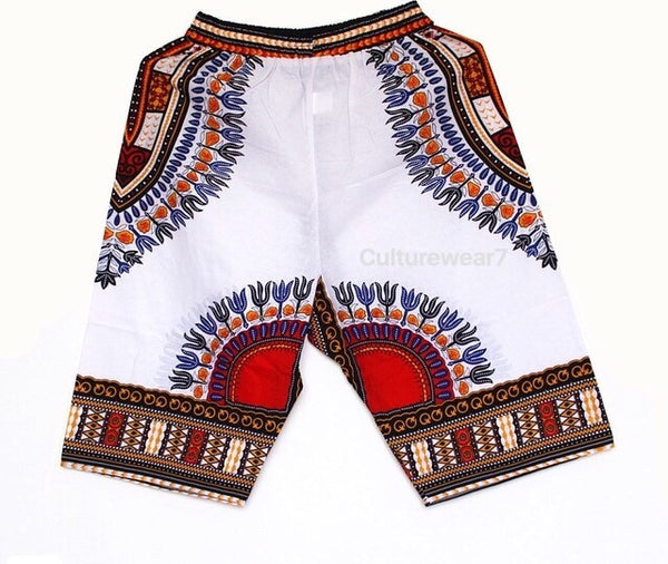 Dashiki Shorts White