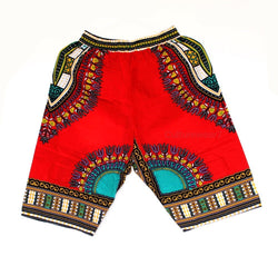 Dashiki Shorts Red
