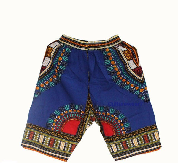 Dashiki Shorts Blue
