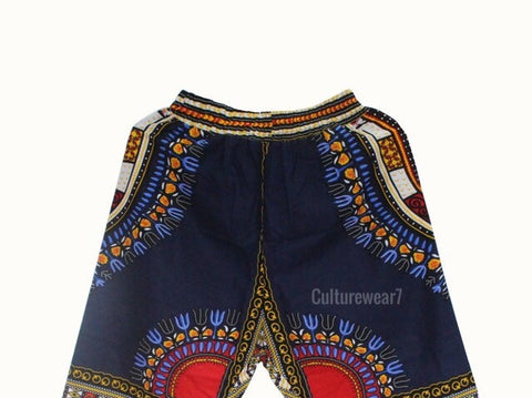 Dashiki Pants Navy Blue