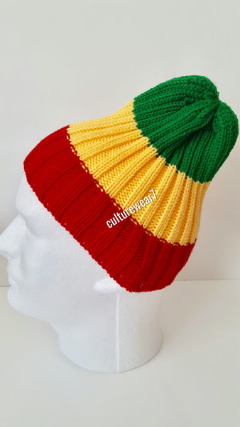 Rasta Beanie Red, Gold, Green #45