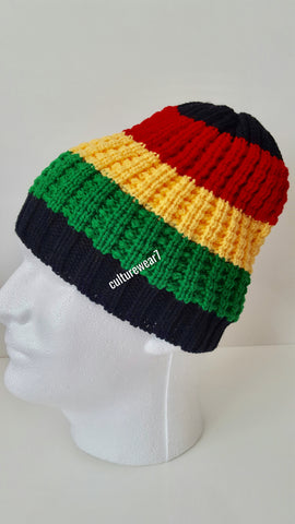 Rasta Beanie Black, Red, Gold, Green #46