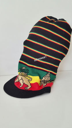 Rasta Hat Lion of Judah XL Black/ Red, Gold, Green #30