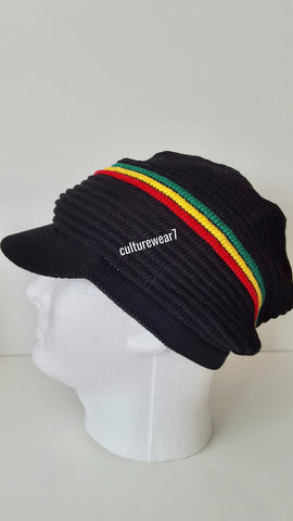 Rasta Hat Black/ Red, Gold, Green #50