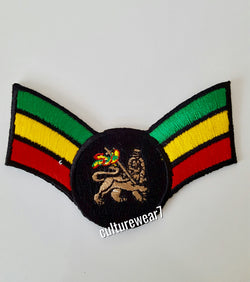 Rasta Lion of Judah Red, Gold, Green Wing Patch