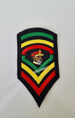 Rasta Haile Selassie Red, Gold, Green Patch