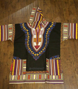Dashiki Hoodie Black/ Yellow, Purple