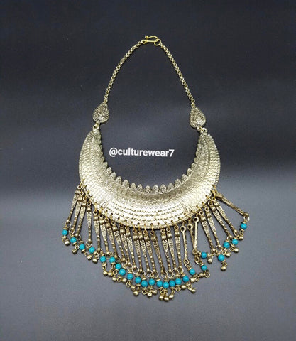 Blue Beaded Vintage Necklace