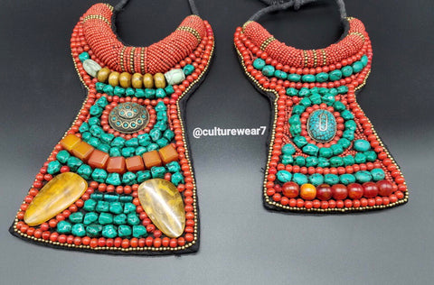 African Beaded Tribal Necklace