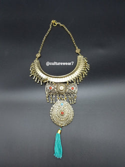 Blue Tassel Vintage Necklace