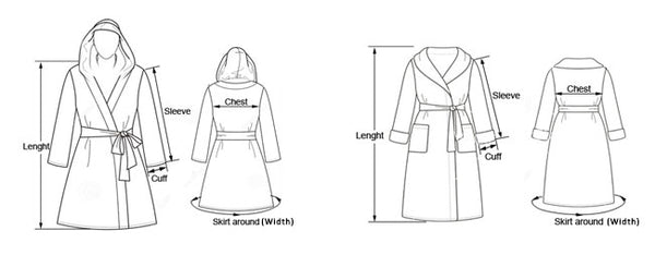 Sizing your robe