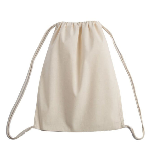 100% Cotton Promotional Drawstring Pouch Bag