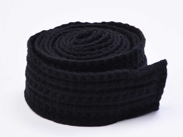 black waffle robe replacement belt