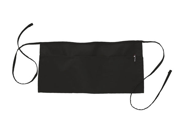 waist apron in black