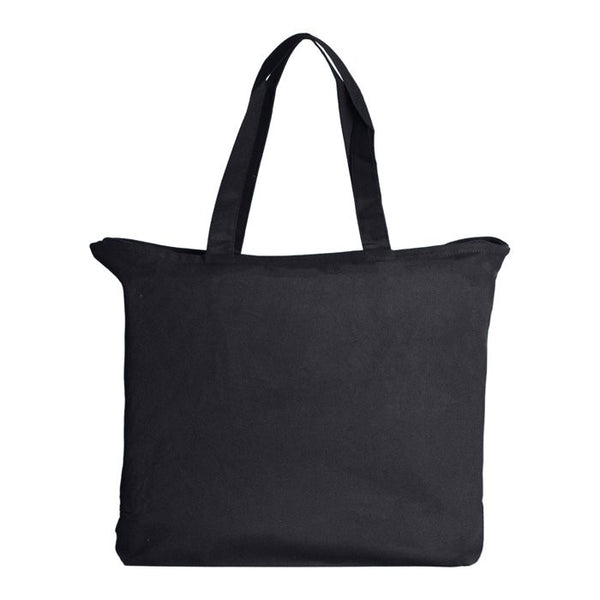 Canvas Tote With Zipper