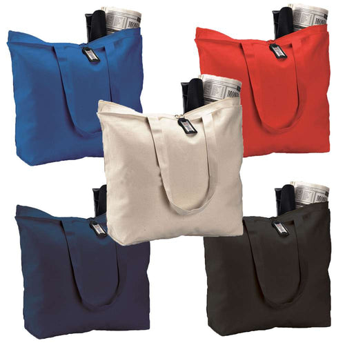 Canvas Tote Bag W Zippered Closure 4b4199c3a143d