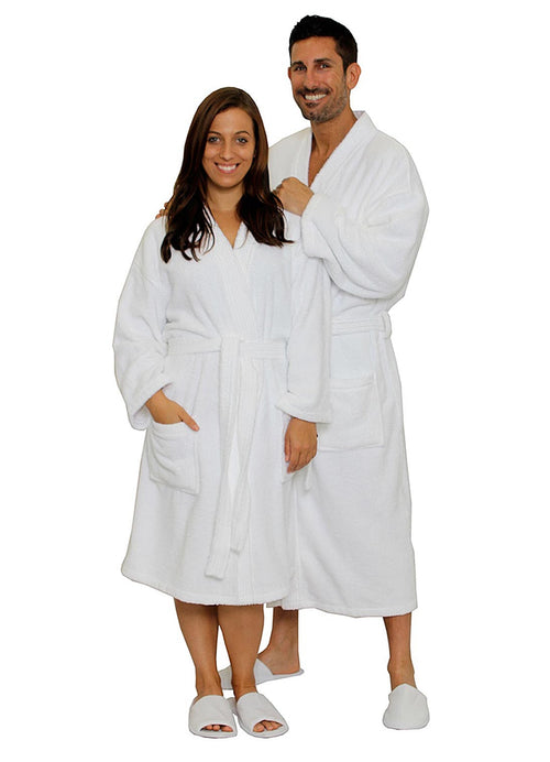 Terry cloth robe for men and women