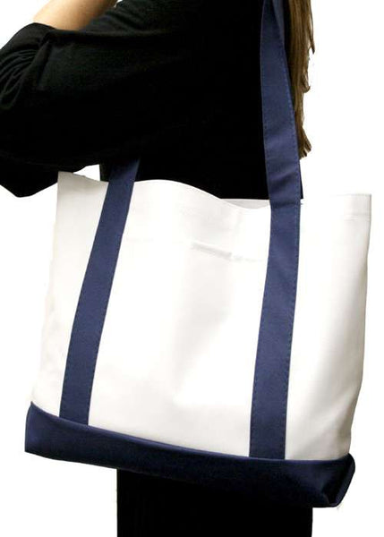 Cruiser Boat and Beach Tote Bag