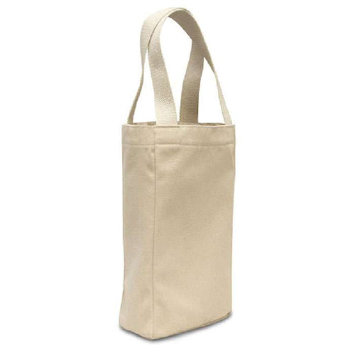 Double Bottle Canvas Wine Tote Bag